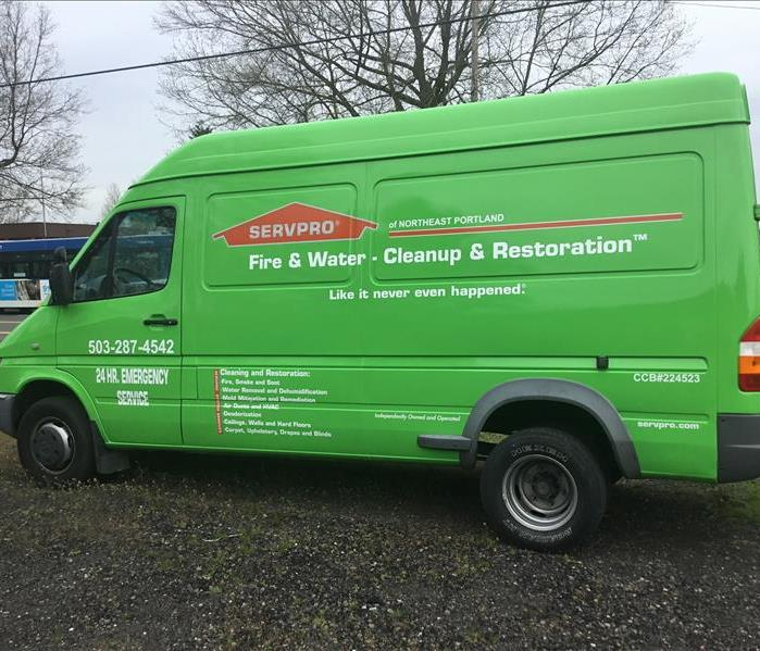 On Our Way! The SERVPRO Green Fleet
